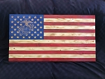 USMC Rustic Wood Flag